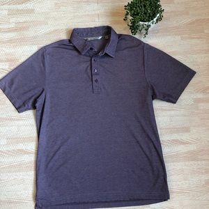 Travis Mathew Heathered Purple Polo No Logo, M